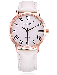 Недорогие -Жен. Наручные часы Нарядные часы Модные часы Китайский Кварцевый PU Группа Кулоны На каждый день Elegant Черный Белый Синий Красный