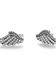 cheap -Women's Stud Earrings Simple Style Sterling Silver Wings / Feather Jewelry For Party New Year