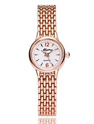 cheap -Women's Bracelet Watch Quartz Metal Alloy Band Analog Casual Elegant Silver / Rose Gold - Silver Rose Gold