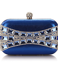 Women Bags All Seasons Polyester Evening Bag Crystal Detailing Sequins for Wedding Event/Party Blue Gold Black Silver