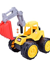 cheap -Toy Car Wheel Excavator Vehicles Excavating Machinery Simple Large Size Soft Plastic Boys' Kid's Gift 1pcs