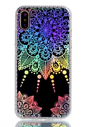 cheap -For iPhone X iPhone 8 Plus Case Cover Plating IMD Pattern Back Cover Case Mandala Lace Printing Soft TPU for Apple iPhone X iPhone 8 Plus