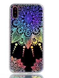 Per iPhone X iPhone 8 Plus Custodie cover Placcato IMD Fantasia/disegno Custodia posteriore Custodia Fiori Mandala La stampa in pizzo