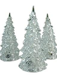 Недорогие -светодиодная лампа питания от аккумулятора 7 цветная смена ночного стола настольная рождественская елка праздничная вечеринка