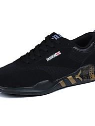 Homme Chaussures Tulle Printemps Automne Confort Chaussures d'Athlétisme Marche Lacet Pour Décontracté Noir et Or Noir/blanc Noir/Rouge