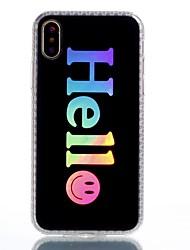 Недорогие -Назначение iPhone X Чехлы панели С узором Задняя крышка Кейс для Слова / выражения Твердый Акриловое волокно для Apple iPhone X