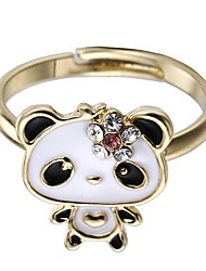 Women's Cuff Ring Jewelry Animal Design Adorable Alloy Circle Panda Jewelry For Party Club