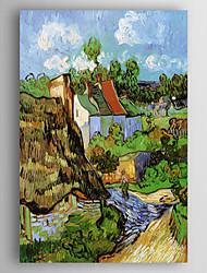 baratos -Pintados à mão Paisagem Vertical,Nova chegada 1 Painel Tela Pintura a Óleo For Decoração para casa