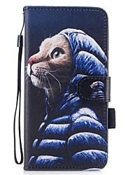 cheap -For iPhone 7 iPhone 7 Plus Case Cover Wallet Card Holder with Stand Flip Pattern Magnetic Full Body Case Cat Hard PU Leather for Apple
