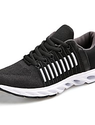 cheap -Men's Athletic Shoes Comfort Fall Winter Breathable Mesh PU Running Shoes Casual Outdoor Lace-up Dark Green Dark Grey Black Flat
