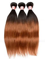 Ombre Hair Weaves Malaysian Texture Straight 12 Months Three-piece Suit hair weaves