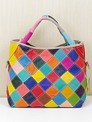 cheap -Women's Bags Cowhide Tote Pocket for Casual Office & Career Spring Summer Rainbow