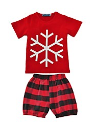 Baby Boys Indoor Outdoor Casual/Daily Clothing Set,Check Summer