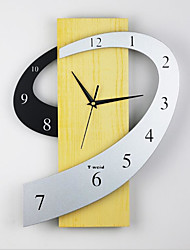 "cheap -Casual / Country / Office / Business Natural Wood 2"" Diamond Indoor / Outdoor / Indoor,AAA Wall Clock"
