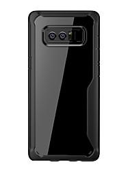caso di cornami per la nota della galassia di Samsung 8 tpu con il caso molle trasparente del telefono del pc
