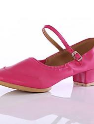 cheap -Women's Modern Customized Materials Heel Outdoor Low Heel Black Fuchsia Red Customizable
