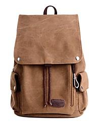preiswerte -Unisex Taschen Leinwand Rucksack Tasche Reißverschluss für Normal Draussen Ganzjährig Braun Grün Schwarz Grau Khaki