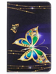cheap -Case For Samsung Galaxy Full Body Cases Tablet Cases Butterfly Hard PU Leather for Tab A 10.1 (2016)