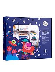 Accessoires d'Halloween Jouets Emoji Dessin Animé Cœur Thème de conte de fées Fantastique Autocollant transparent Autocollant lisse