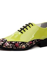 Недорогие -Для мужчин обувь Искусственное волокно Весна Осень Формальная обувь Туфли на шнуровке Шнуровка Назначение Для вечеринки / ужина Белый