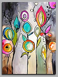 cheap -Hand-Painted Abstract Vertical, Artistic Abstract Active Birthday Cool Office/Business Modern/Contemporary New Year's Christmas Canvas
