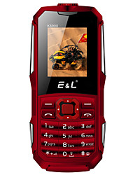 E&L K6900 1.8 inch CellPhone(IP68 2000mAh Bluetooth FM Flashlight Dual SIM Card)