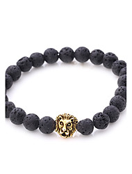 cheap -Men's Women's Bracelet Strand Bracelet Onyx Natural Punk Stone Alloy Irregular Lion Jewelry For Party Gift