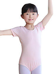 Ballet Leotards Women's Children's Training Cotton 1 Piece Short Sleeve Natural Leotard