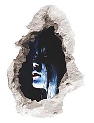 Недорогие -Хэллоуин 3D ужас призрак стены наклейки съемные страшные наклейки стены домашний декор