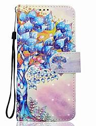 Coque Pour Samsung Galaxy J7 (2017) J3 (2017) Portefeuille Porte Carte Avec Support Clapet Motif Magnétique Coque Intégrale Arbre Dur