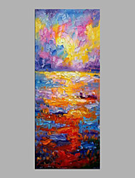 cheap -Oil Painting Hand Painted - Landscape Abstract Canvas