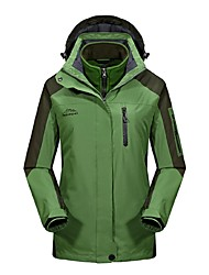 cheap -Women's Cycling Jacket Outdoor Winter Windproof Rain-Proof Wearable Breathability Winter Jacket 3-in-1 Jacket Top Full Length Visible