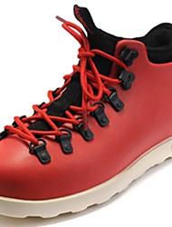 Для мужчин обувь Синтетика Осень Зима Ботильоны Кеды Ботинки Шнуровка Назначение Повседневные Для вечеринки / ужина Черный Серый Красный