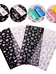4 Nail Art Sticker  Glitter Pattern Accessories Art Deco/Retro 3D Nail Stickers Cartoon 3-D Christmas New Year Sticker DIY Supplies