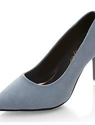 preiswerte -Damen Schuhe Vlies PU Herbst Pumps High Heels Stöckelabsatz Spitze Zehe für Normal Büro & Karriere Schwarz Blau
