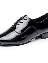 Недорогие -Для мужчин Латина Дерматин На каблуках Концертная обувь На низком каблуке Белый Черный Персонализируемая