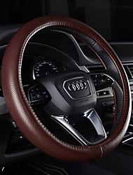 abordables -Protège Volant Cuir véritable 38cm Violet / Café / Noir / Rouge For Audi A6L / A7 / Q3 Toutes les Années