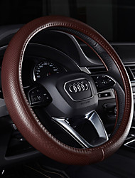 preiswerte -Lenkradbezüge Echtleder 38cm Purpur / Kaffee / Schwarz / Rot For Audi Q5 / Q7 / A8L Alle Jahre