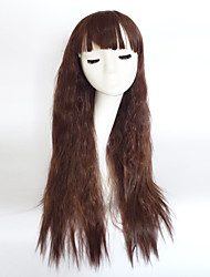 cheap -Synthetic Wig Wavy Asymmetrical Haircut / With Bangs Synthetic Hair Natural Hairline Brown Wig Women's Long Capless