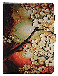 Недорогие -для чехлов держатель карты держатель кошелек с подставкой флип-паттерн полный корпус чехол цветок твердый кожа pu для яблока ipad pro 10.5