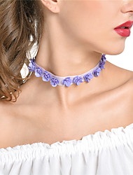cheap -Women's Choker Necklace / Chain Necklace - Flower Handmade Purple Necklace Jewelry For Party, Daily