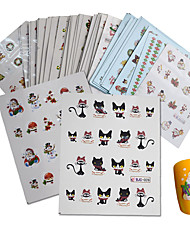 cheap -44pcs Water Transfer Decals / Water Transfer Sticker / Sticker Nail Stamping Template Daily Fashion