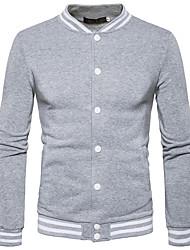 preiswerte -Herren Pullover Lässig/Alltäglich Gestreift V-Ausschnitt Mikro-elastisch Polyester Lange Ärmel Herbst Winter