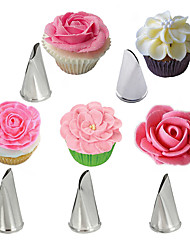 5Pcs Rose Petal Stainless Steel Cream Cake Icing Piping Nozzles Pastry Decorating Tools