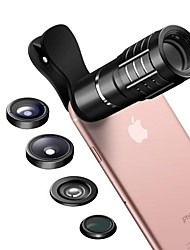 cheap -CASMELY Smartphone Camera Lenses 0.36X Wide Angle Lens 10X Telephoto Lens 15X Macro Lens Fish-eye Lens CPL for ipad iphone Huawei xiaomi samsung