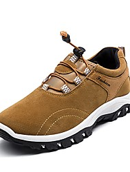 cheap -Men's Shoes Suede Winter Fluff Lining Comfort Athletic Shoes Hiking Shoes Gore For Casual Outdoor Blue Yellow Gray Black