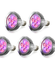 cheap -5pcs 540-740lm E27 Growing Light Bulb 7 LED Beads High Power LED Blue Red 85-265V