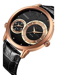 preiswerte -Herrn Sportuhr Kleideruhr Armbanduhr Chinesisch Quartz Kalender Chronograph Wasserdicht Leder Echtes Leder Band Luxus Freizeit Elegant
