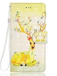 baratos -caso para maçã iphone 7 7 mais 6 6s mais 5 5s se caso tampa de veado padrão três d stent cartão telefone caso
