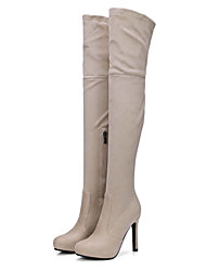 cheap -Women's Shoes Suede Fall / Winter Fashion Boots / Novelty / Comfort Boots Stiletto Heel Pointed Toe Knee High Boots Zipper for Office &